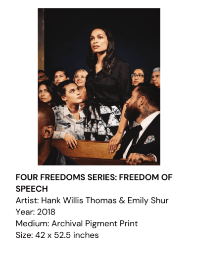 FOUR FREEDOMS SERIES: FREEDOM OF SPEECH, Hank Willis Thomas & Emily Shur